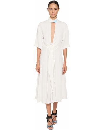 Платье миди с воротником из крепа Off-white