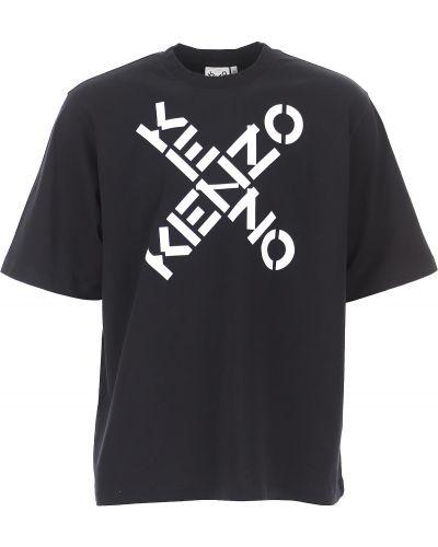 Bawełna bawełna czarny t-shirt krótkie rękawy Kenzo