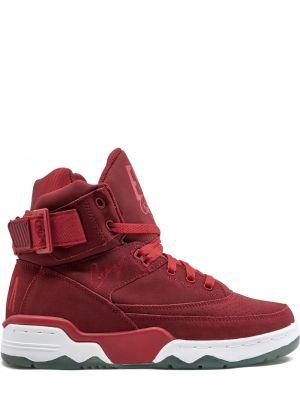 Кожаные красные кроссовки Ewing