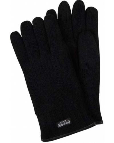 Czarne rękawiczki wełniane Eem-fashion