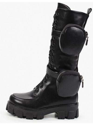 Кожаные ботинки - черные Diora.rim