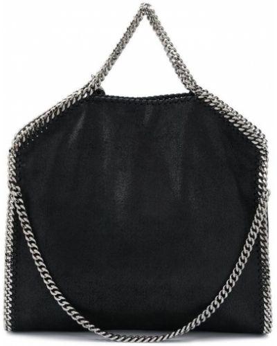 Czarna torebka na łańcuszku skórzana Stella Mccartney