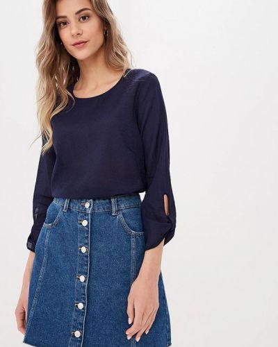 С рукавами синяя блузка с длинным рукавом Baon