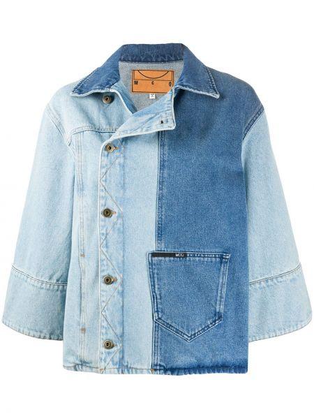 Джинсовая куртка длинная на пуговицах Mcq Alexander Mcqueen