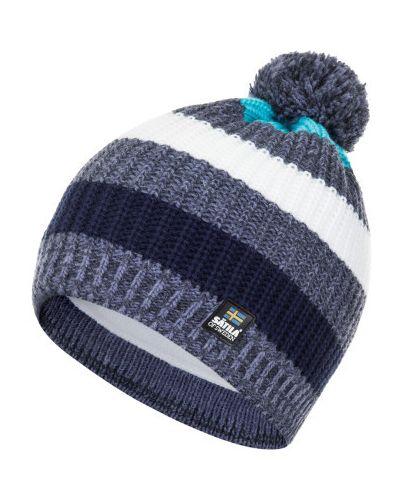 Синяя шапка легкая Satila