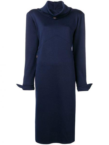 Платье миди винтажная на пуговицах Fendi Pre-owned