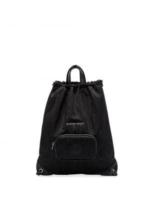 Czarny plecak skórzany Marine Serre