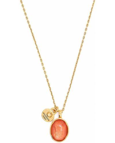 Pomarańczowy złoty naszyjnik pozłacany Goossens