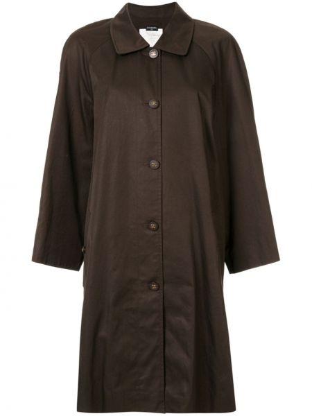 Пальто оверсайз с воротником винтажное на пуговицах Chanel Pre-owned