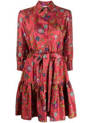 Платье макси на пуговицах с цветочным принтом La Doublej
