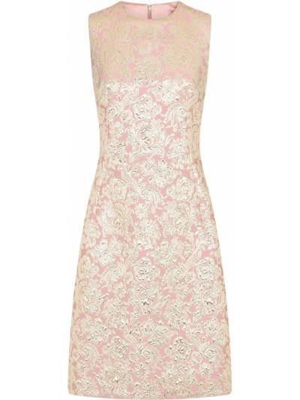 Шелковое розовое коктейльное платье без рукавов Dolce & Gabbana