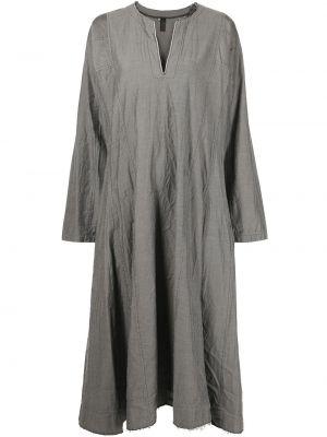 Серое платье миди свободного кроя с вырезом Comme Des Garçons Comme Des Garçons