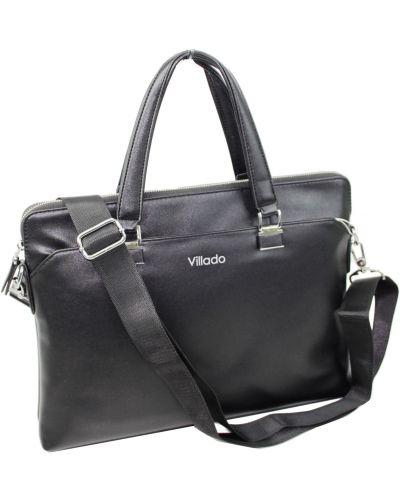 Кожаный портфель - черный Villado