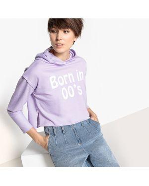 Фиолетовый свитшот с капюшоном La Redoute Collections