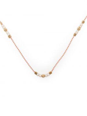 Złoty naszyjnik łańcuch - różowy Petite Grand