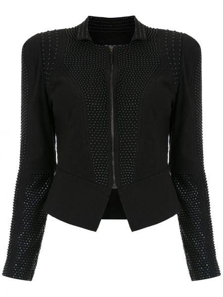 Черный удлиненный пиджак на молнии Tufi Duek
