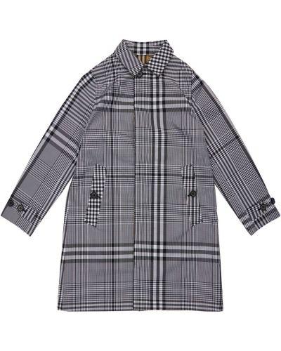 Beżowy płaszcz z nylonu z printem Burberry