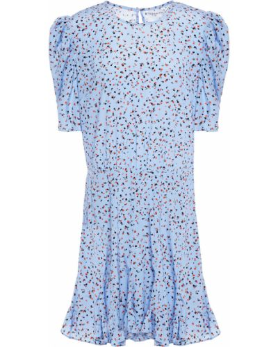 Шелковое синее платье мини с подкладкой Veronica Beard