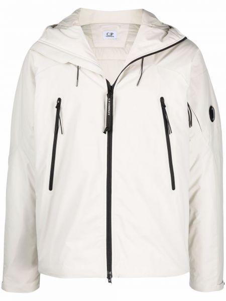 Белая длинная куртка C.p. Company