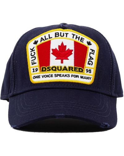 Niebieski kapelusz Dsquared2