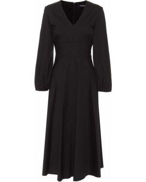 Черное платье миди из поплина свободного кроя для полных 's Max Mara