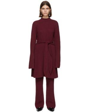 Платье макси бордовый вязаное Nanushka