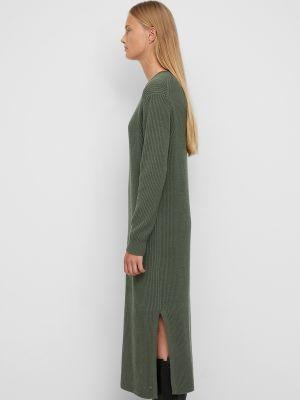 Платье миди в рубчик - зеленое Marc O'polo Denim