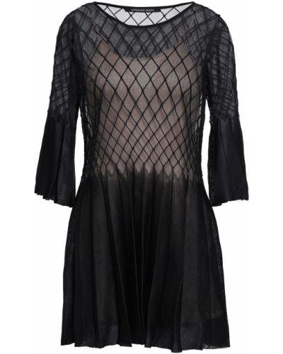 Czarna sukienka z jedwabiu Antonino Valenti