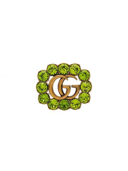 Broszka, zielony Gucci