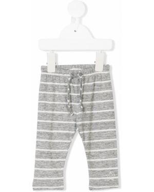 Хлопковые белые брюки на шнурках винтажные Tocotò Vintage