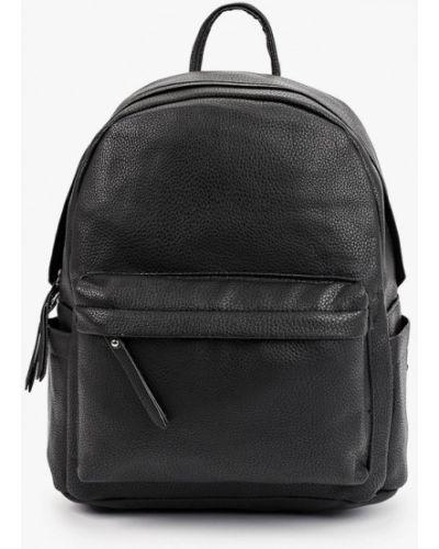 Черный кожаный городской рюкзак Allegri