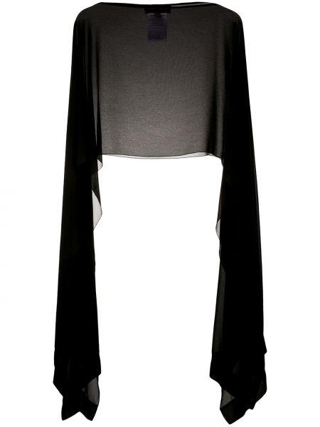 С рукавами черное пончо прозрачное Talbot Runhof