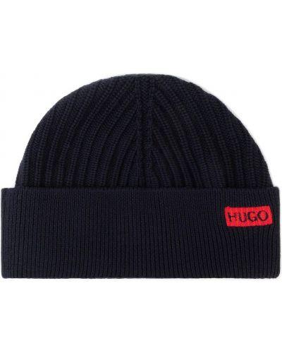 Czapka czarny wełniany Hugo
