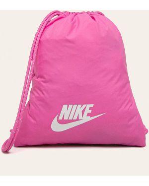 Różowy sport plecak z printem Nike Sportswear