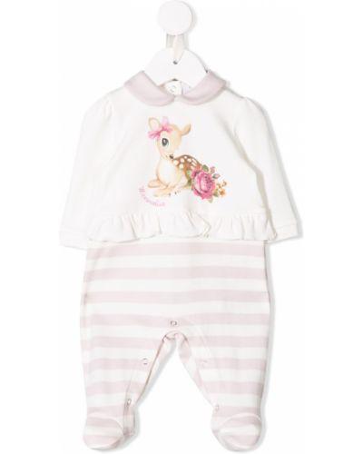 Пижама белая с воротником Monnalisa