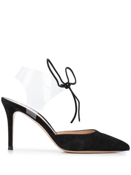 Туфли на каблуке черные на высоком каблуке Gianvito Rossi