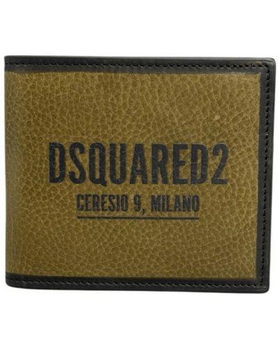 Brązowy portfel z printem Dsquared2