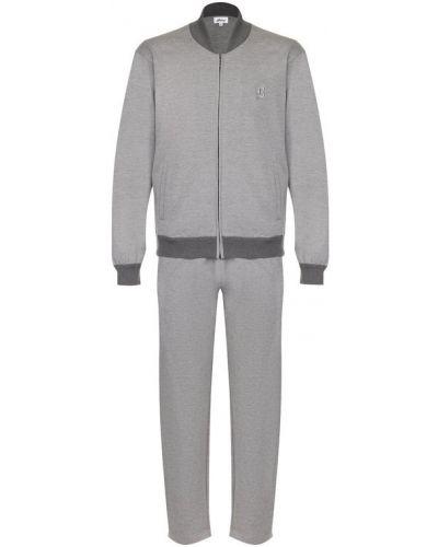 Спортивный костюм шерстяной серый Brioni