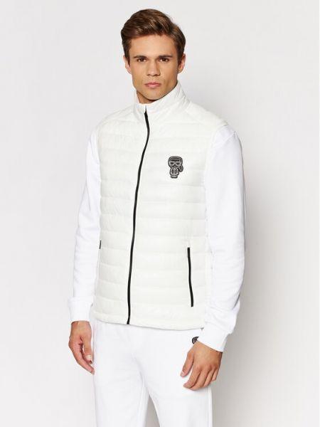 Kamizelka bez rękawów - biała Karl Lagerfeld