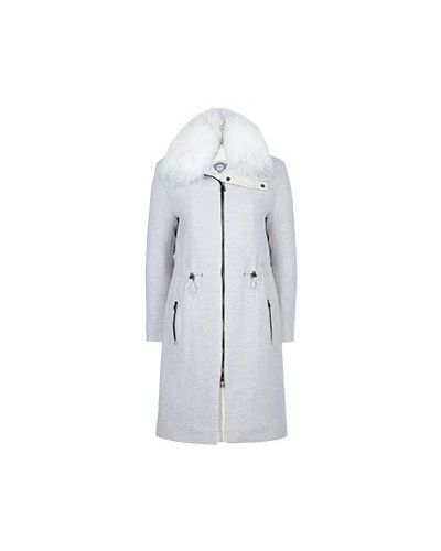 Белое пальто шерстяное Diego M