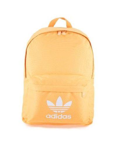 Klasyczny pomarańczowy plecak materiałowy Adidas