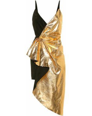 Летнее платье кожаное мини Gucci
