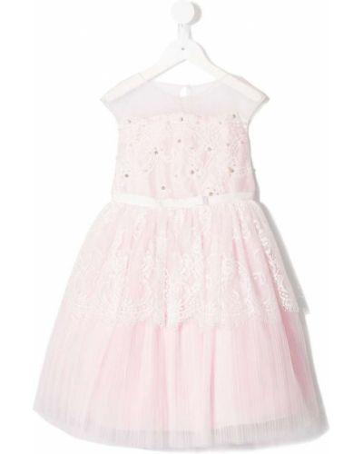 Платье розовый расклешенное Lesy