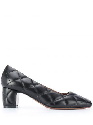 Кожаные черные туфли-лодочки на каблуке L'autre Chose