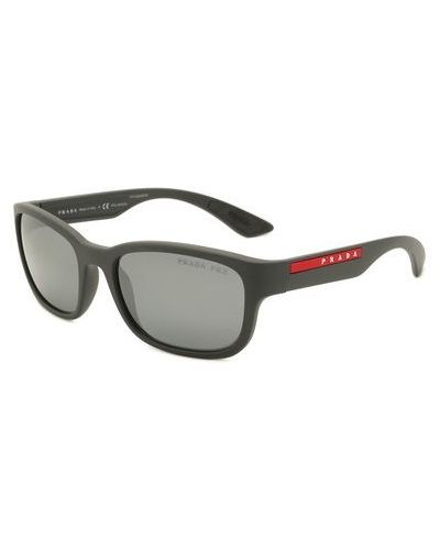 Нейлоновые серые солнцезащитные очки Prada Linea Rossa
