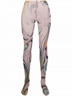 Rajstopy - różowe Emilio Pucci