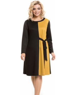 Повседневное платье через плечо с поясом Novita