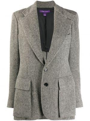 Нейлоновый черный приталенный классический пиджак с карманами Ralph Lauren