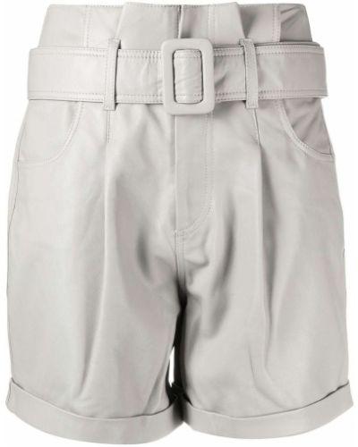 С завышенной талией кожаные шорты с карманами Federica Tosi