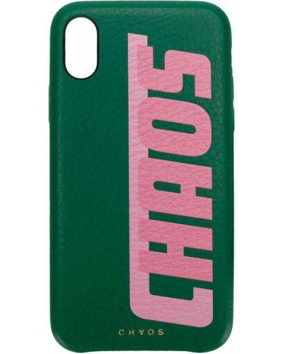 Зеленая кожаная ключница Chaos